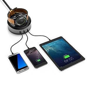 ZHRUYY Cargador Samsung Gear S3, Reloj Gear S2 Classic SM-R732, Base de Carga inalámbrica Magnetism,S2,Chargingseat