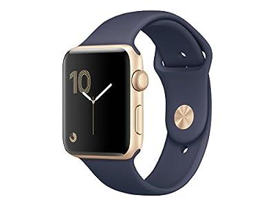 Apple Watch Series 2 42mm (Gold Aluminum Case, Midnight Blue Sport Band) MQ152LL/A
