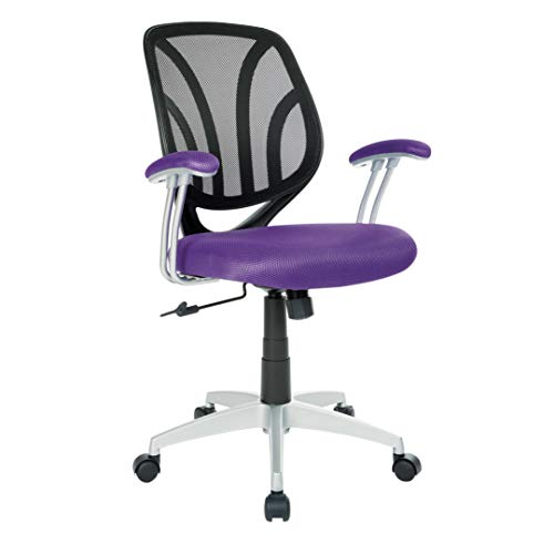 Back Task Chair Screen (Ave Six EMH69203S-512 Screen Back Office Task Chair, Purple)