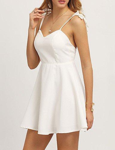 Vestido Gran Partido De Fiesta De Altura Una Línea Vestido La Mangas Sin Blanco De Mujer Mujer Inelástica JIALELE Fiesta YnwqPXxa