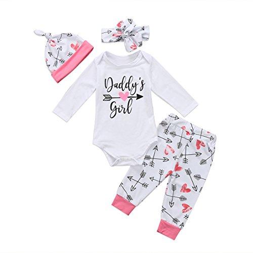 4Pcs Baby Girl Daddy