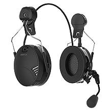 Sena TUFFTALK-02 Tufftalk Over-The-Head Earmuff with Long-Range Bluetooth Communication,,, Black