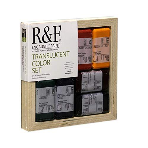 R&F Encaustic Paints Translucent Colors, Set of 6