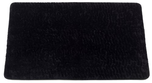 Carnation Home Fashions Sable Animal Instincts Faux Fur Bath Mat, 20 by 30-Inch, Black
