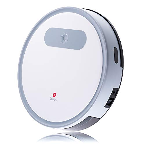 Lefant M300 Robot Vacuum Cleaner,1200Pa Strong Suction,Super Quite Robotic Vacuums Cleaner,Cleans Pet Hair,Hard Floors to Medium-Pile Carpets,White ()