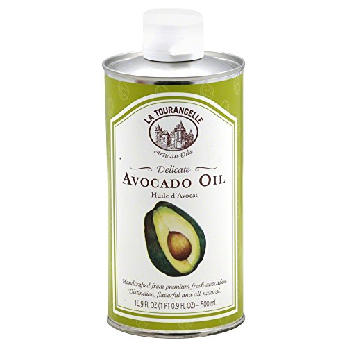 La Tourangelle Avocado Oil 16.9 Fl. Oz, All-Natural, Artisanal, Great for Salads, Fruit, Fish or Vegetables, Buttery (Pure Avocado Oil)