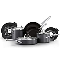 Calphalon Classic Nonstick 10 Piece Cookware Set with No Boil-Over Inserts