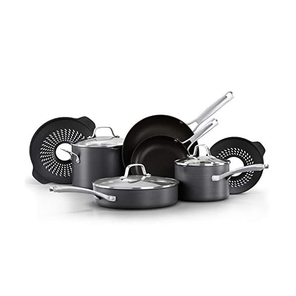 Calphalon Classic Pots and Pans Boil-Over Inserts, Nonstick Cooking Set 1