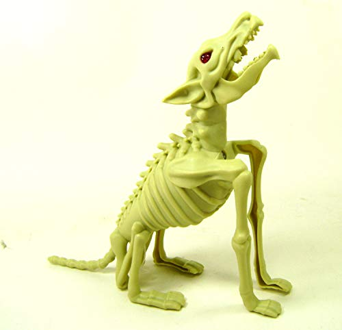 WOLF SKELETON Bones Lights Sound Halloween Decor Party Decoration Accessories]()