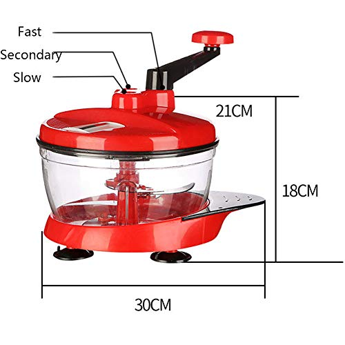 Multifunctional Manual High Speedy Vegetable Fruit Meat Twist Chopper Cutter Shredder Grinder by NOQ (Image #4)