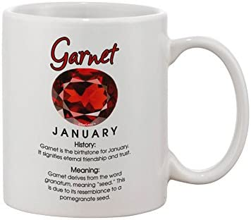 Amazon com: TooLoud Birthstone Garnet Printed 11oz Coffee