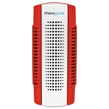 Therapure IONTPP50RED Uses UV Light Technology Mini Plug-In Blade Air Purifier, Red