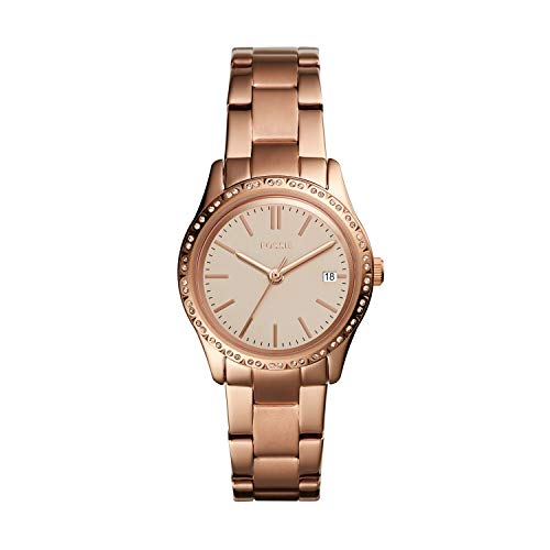 Fossil Women's Adalyn Quartz Stainless Steel Dress Watch, Color: Rose Gold (Model: BQ3374) (Fossil Watch Color)