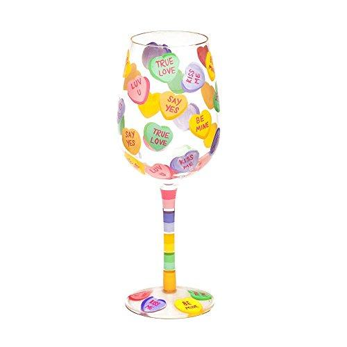 Top Shelf Candy Hearts Wine Glass