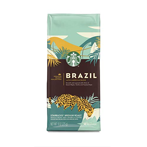 Select Whole Bean - Starbucks Premium Select Collection, Brazil Latin American Blend Medium Roast Coffee, Whole Bean, 9 oz