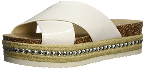 Jessica Simpson Women's Shanny Slide Sandal, White, 8 Medium US - Jessica Simpson Braid