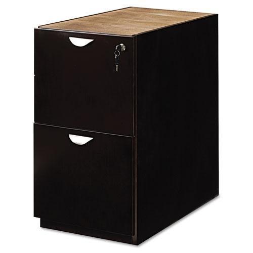 Mayline Mira Series File/File Desk Pedestal, 15w x 28d x 27_h, Espresso