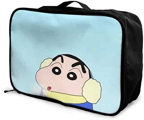 Large Weekender Carry-on Cartoon Jumping Dolphin Ambesonne Animal Gym Bag