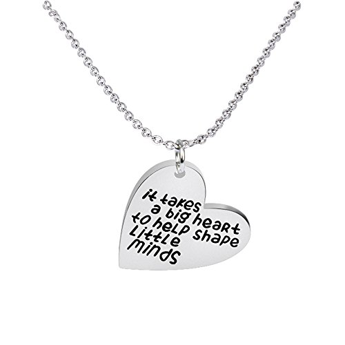 Teacher Student Gift for Key Chain Ring - It takes a big heart to teach little minds