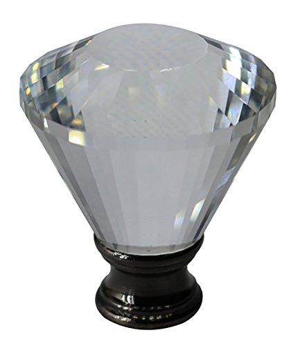 (Urbanest Crystal Diana Lamp Finial, Black, 2-inch)