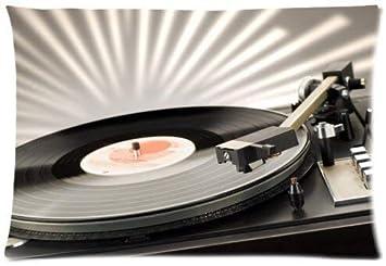 Amazon.com: Vinyl Record – Almohada de microfibra diseño de ...
