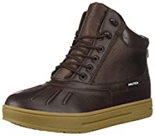 Nautica Men's New Bedford Ankle Boot, Dark Brown Smooth, 13 Medium US