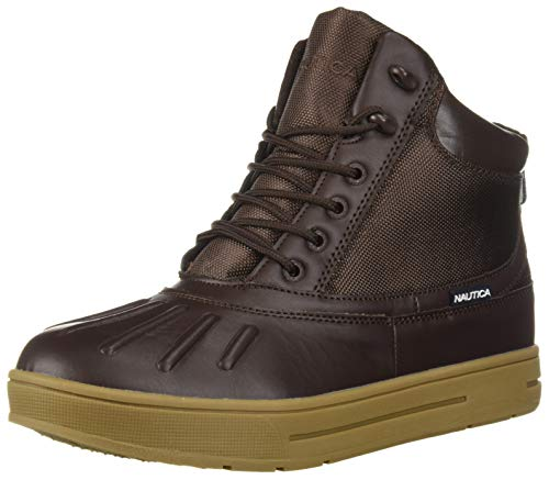 Nautica Men's New Bedford Ankle Boot, Dark Brown Smooth, 12 Medium US