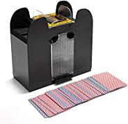 YSMANGO Automatic Card Shuffler, Electric Battery Operated 6 Deck Card Shuffle Sorter Cards Playing Tool Acces