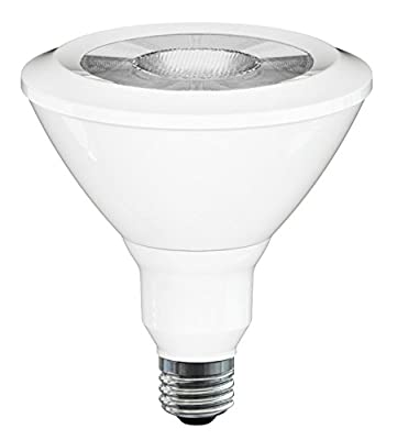 "SleekLighting 20999 PAR 38, LED 18W, ""Dimmable"" Wide Flood Light Bulb(40°), Warm White (3000K), 1100 lm, E26 Medium Base, 100W Equivalent, UL Approved"