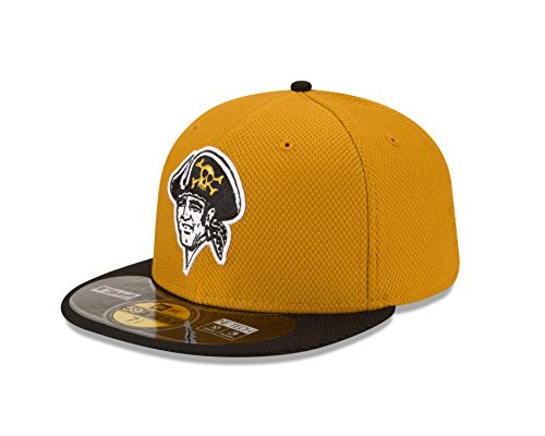 MLB Pittsburgh Pirates Men's Authentic Diamond Era 59FIFTY Fitted Cap, 7 3/8, Gold