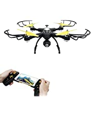 POBO RC Foldable Drone WiFi 2.4Ghz 4CH 6 Axis Gyro Remote Control FPV VR Quadcopter with 2MP/720P HD Camera
