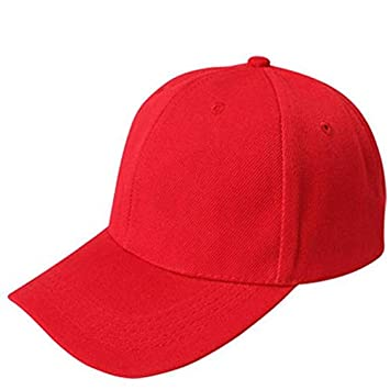Hot Sale! Charberry Mens Baseball Cap Blank Hat Solid Color Adjustable Hat  (Red)  Baby f5123f5a823b