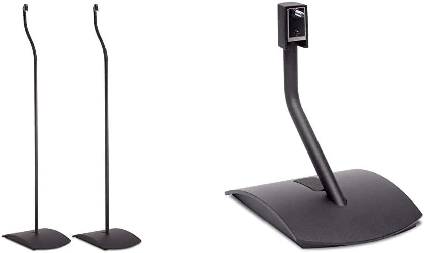 Bose UFS-20 Series II Universal Floor Stands, Black - 722139-0010 Bundle with Bose UTS-20 Series II Universal Table Stand