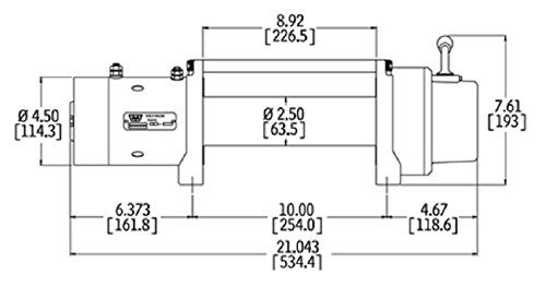 41kPA5sGNDL amazon com warn 26502 m8000 8000 lb winch automotive 12 Volt Winch Wiring Diagram at gsmx.co