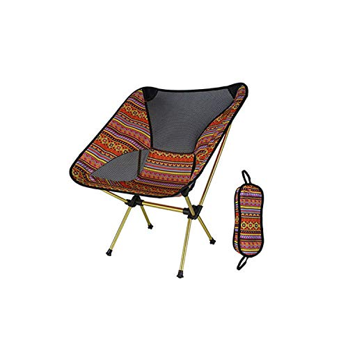 Folding Chair Ultralight Moon Chairs Portable Garden Al Chair Fishing The Director Seat Camping Removable Folding Furniture Indian Armchair,Sf73700Or ()
