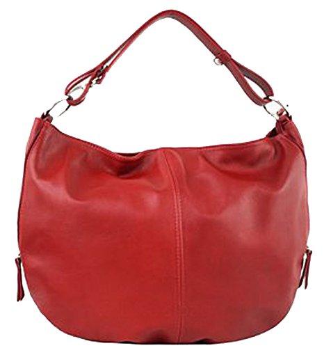G&G PELLETTERIA - Bolso al hombro de Piel para mujer rojo