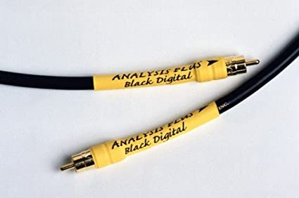 Analysis Plus Black Digital RCA to RCA Digital Coaxial Cable 1m NEW