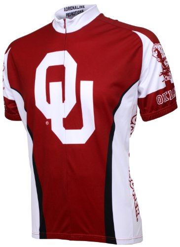 NCAA Oklahoma Boomer Sooner Cycling Jersey, Red/White, Large (Jersey Sooners Oklahoma)