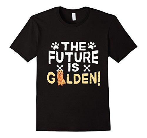 Men's The Future Is Golden - Retriever Dog T-Shirt Large (Retriever T-shirt Tee)