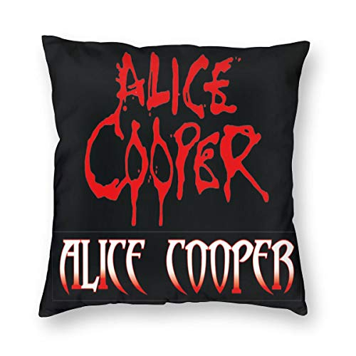 MAFTING Alice Cooper Throw Pillows Covers for Couch/Bed 24