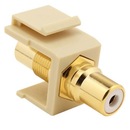 Construct Pro RCA to RCA Keystone Jack w/ 8 Color Bands (Ivory)