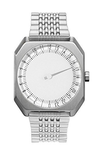 slow Jo 01 - Swiss Made one-hand 24 hour watch - Silver steel