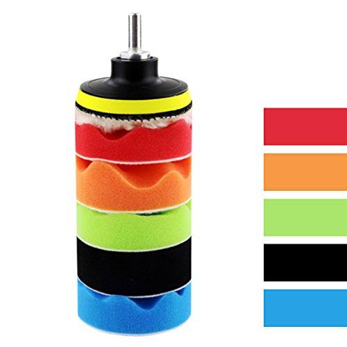 Coceca 26PCS 3 Inch Car Foam Drill Polishing Pads, Buffing Sponge Pads Kit for Car Sanding, Polishing, Waxing,Sealing Glaze by Coceca (Image #2)'