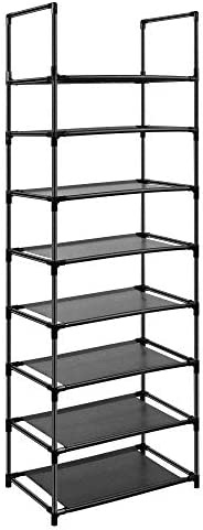 Easyhouse 8 Tier Metal Sturdy Shoe Rack for Entryway/Closet, Stores 16-20 Pairs of Shoes, Multi-use Shelf Organizer for Space Saving Storage