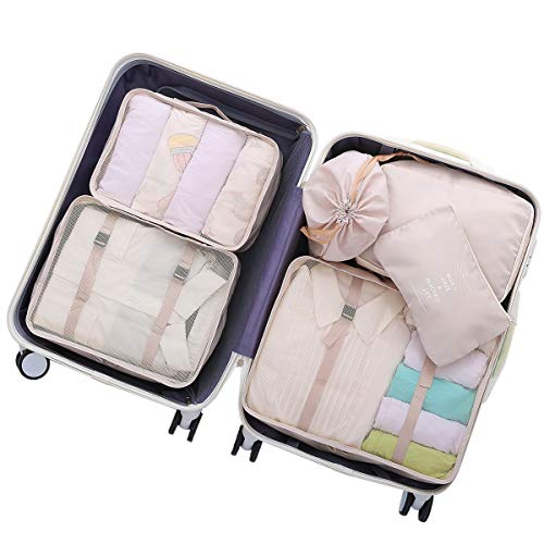 OEE 6 pcs Luggage Packing Organizers Packing Cubes Set for -