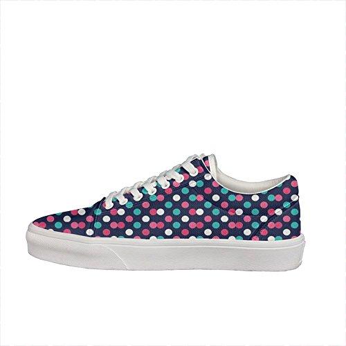 Skateboard Costume Ideas (Classic polka dot pattern (2) Unisex skate shoe Footwear Classic Fashion comfortable gift)