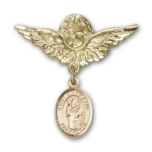Icecarats Or Bijoux De Créateurs Rempli R. Stanislaus Charme Ange Broche De Badge 1 1/8 X 1 1/8