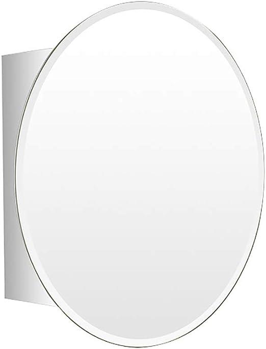 HSRG - Armario Ovalado de Acero Inoxidable con Espejo, para Montar en la Pared, Puerta corredera de baño, Armario, Dormitorio, Almacenamiento: Amazon.es: Hogar