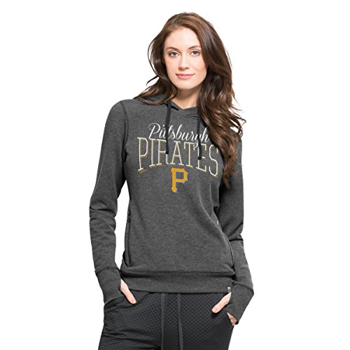 '47 MLB Pittsburgh Pirates Women's Stride Hood, Medium, Shift - Pittsburgh Mlb Pirates Hoody