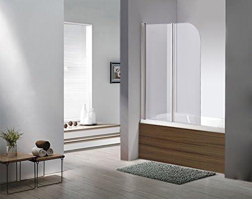 Vidrio Mampara Dallas transparente cristal bañera plegable pared ducha pared bañera plegable pared al nano-recubrimiento – Vidrio de 6 mm – plegable: Amazon.es: Hogar